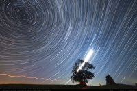 startrails and perseids